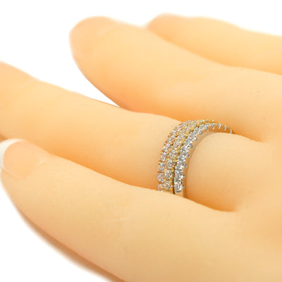 Stackable ring - diamond accents
