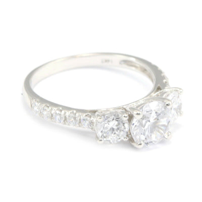 Jewelry & Watches Certified 2.25ct Round White Diamond Engagement Wedding Ring In 14k White Gold