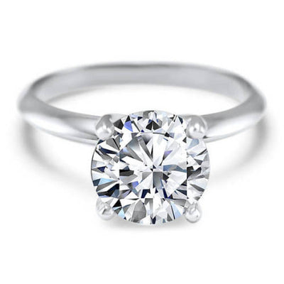 2 Ct. Round Cut Solitaire Solid 18K White Gold Engagement Ring