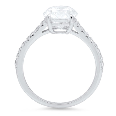 2 Ct. Oval Cut Engagement Ring in Solid 14k White Gold - Glamour Life Diamonds