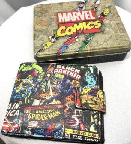 New Marvel Comics Spider Man, Hulk, Avengers Wallet & Collectible Gift TinBox - MiscGoodies