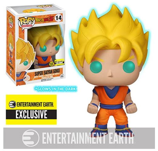 Dragon Ball Z Glow-in-the-Dark Super Saiyan Goku Pop! Vinyl Figure MINT - MiscGoodies