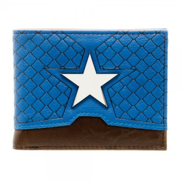 Marvel Captain America Suit Up Bi-Fold Boxed Wallet - MiscGoodies