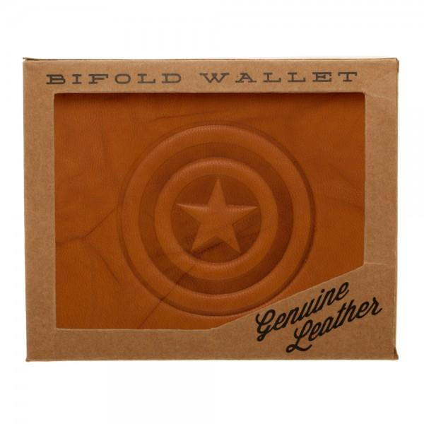 Marvel Captain America Leather Bi-Fold Wallet - MiscGoodies; Collectibles, Clothing, Electronics, & More