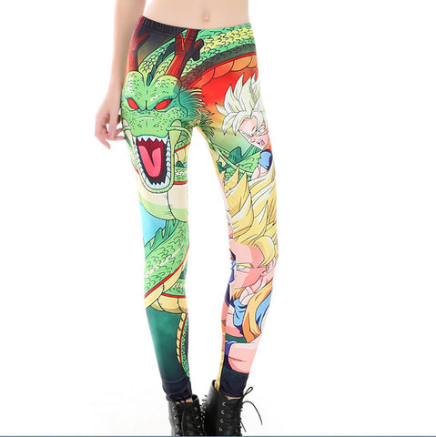 DRAGON BALL Anime Graphic Printed Casual Leggings - MiscGoodies