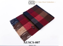 RED/BROWN/NAVY AUZLAND SCARF