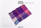 PURPLE/PINK/CREAM AUZLAND UGG WOOL SCARF
