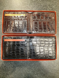 MEN'S WALLET IN CROC PRINT KANGAROO LEATHER
