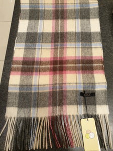 PINK/CREAM/BLUE/GREY AUZLAND UGG WOOL SCARF