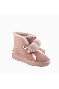 UGG MEGAN POM POM BAND LACE BOOTS