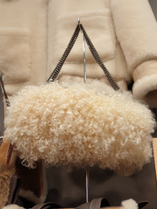 ESSENTIAL TIBATAN LAMBS WOOL HAND MUFF BAG