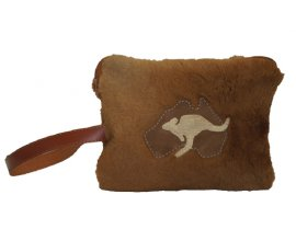 CLUTCH BAG KANGAROO FUR