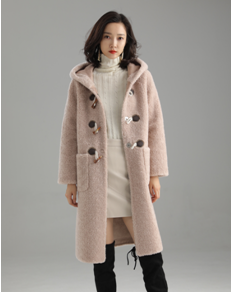 ESSENTIAL 100% WOOL HOODED LONG COAT