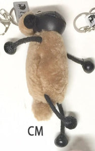 Sheepskin Black Sheep Key Ring