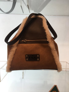 TRIANGULAR SHEEPSKIN BAG