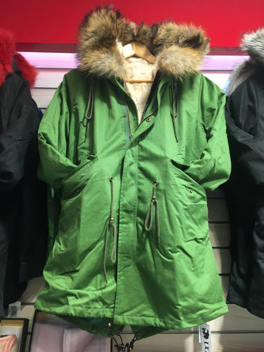 ESSENTIAL PARKA MINK FUR + COTTON COAT