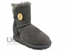 Kids Short Button UGG Boots