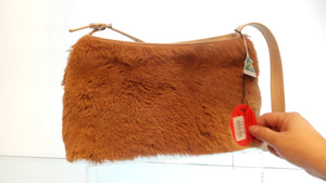 SLIM SHOULDER BAG - FUR