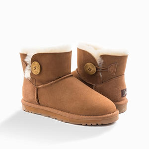UGG Classic Mini Button Boots (WATER RESISTANT)