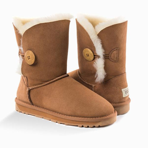 UGG Classic Short Button Boots (WATER RESISTANT)
