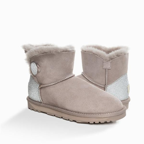UGG CLASSIC SPARKLING MINI BUTTON BOOTS