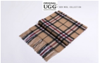 CREAM/BLACK AUZLAND UGG WOOL SCARF
