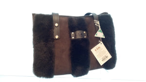FRONT THREE LINERS SHEEPSKIN BAG