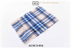 BLUE/WHITE/BROWN AUZLAND UGG WOOL SCARF