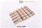 CREAM/GREEN/RED/BLUE LINING AUZLAND UGG WOOL SCARF