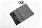 PLAIN GREY WITH BLACK AUZLAND UGG WOOL SCARF