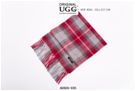 RED/GREY/WHITE CHECK AUZLAND UGG WOOL SCARF