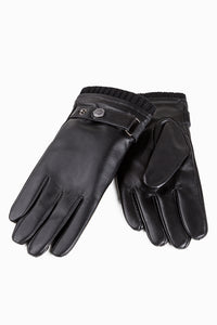 UGG MENS SILVER STUD TAB GLOVE (TOUCH SCREEN)