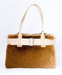 FRONT BELT PRINCESS KANGAROO FUR BAG