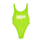 SUCIOS BATHING SUIT ; NEON GREEN