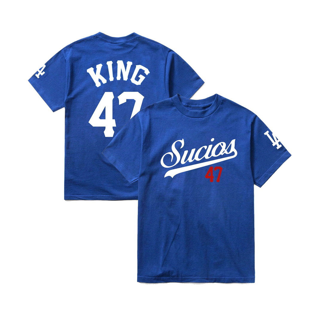 Sucios Jersey Tee; Royal Blue
