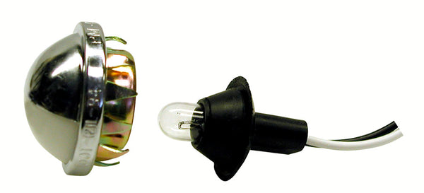 V432 Peterson (PM) Chrome License / Utility Light with Replaceable Bulb (RETAIL) - Buy PM Lights