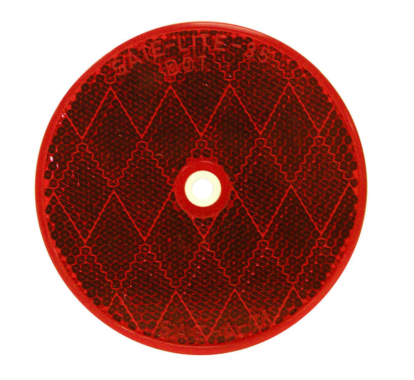 "B476R Peterson (PM) Screw-On Center-Mount 3-3/16"" Round Reflector (Red) - Buy PM Lights"