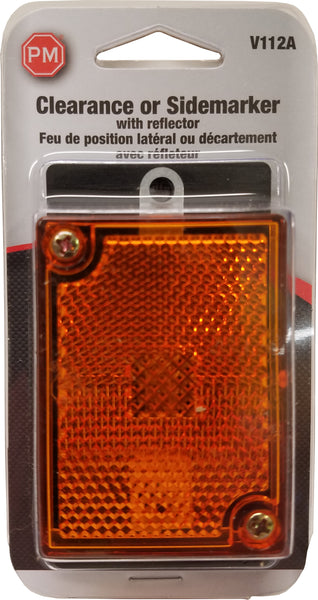 V112A Peterson (PM) Amber Clearance/Side Marker Light with Reflex - Buy PM Lights