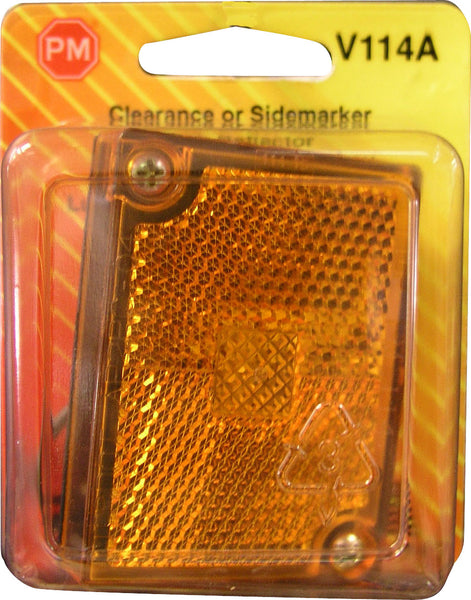 V114A Peterson (PM) Amber PC-Rated Clearance/Side Marker w/ Reflex - Buy PM Lights