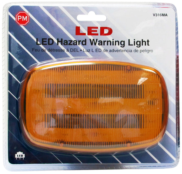 V316MA Peterson LED Battery-Operated Flashing Hazard Light (Magnetic Mount) - Buy PM Lights