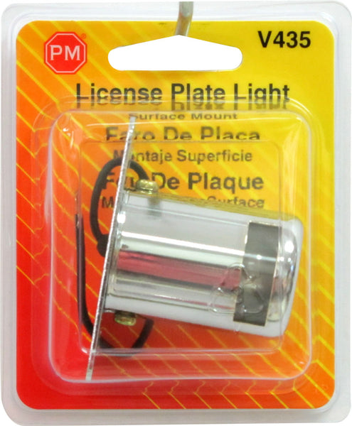 V435 Peterson (PM) Chrome License Plate Light (RETAIL) - Buy PM Lights