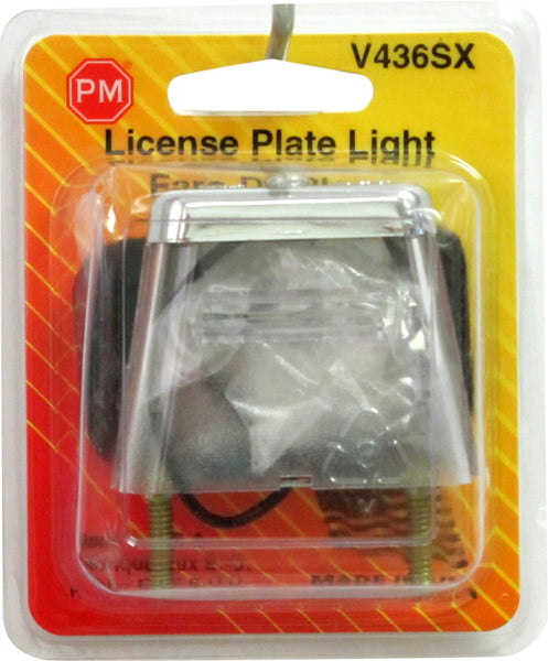 V436SX Peterson (PM) Chrome, Stud-Mount License Plate Light (RETAIL) - Buy PM Lights