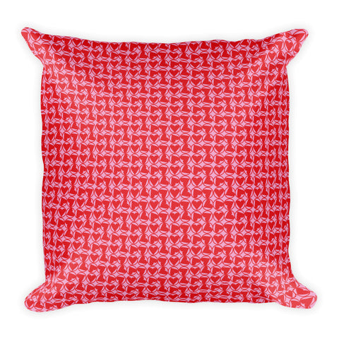 Heart Wheels Square Pillow