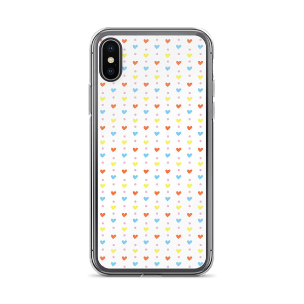 Hearts and Dots iPhone Case