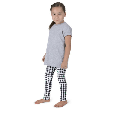 Houndstooth and Trees Kid's leggings