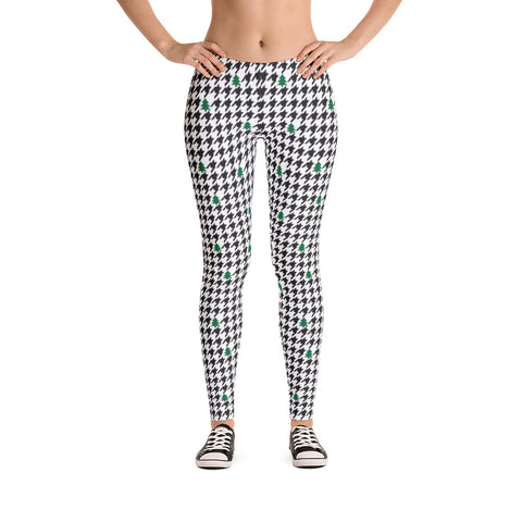 Houndstooth and Trees Leggings