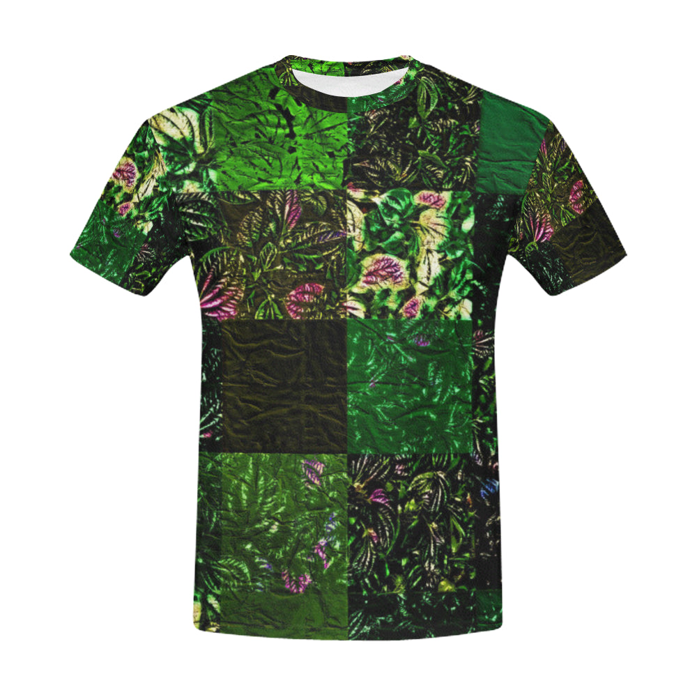 Foliage Patchwork #1   All Over Print T-Shirt for Men (USA Size) (Model T40)