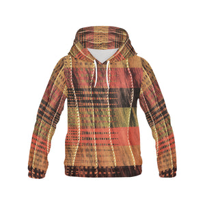 Batik Maharani #6 Vertical   All Over Print Hoodie for Women (USA Size) (Model H13)
