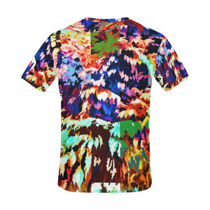 Foliage Patchwork #7   All Over Print T-Shirt for Men (USA Size) (Model T40)