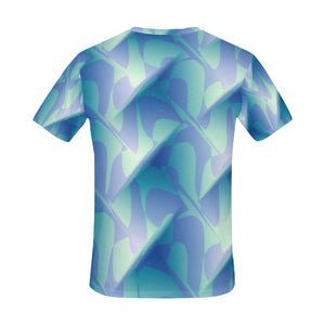 Subtle Blue Cubik   All Over Print T-Shirt for Men (USA Size) (Model T40)